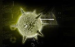 Vírus de herpes Fotografia de Stock Royalty Free