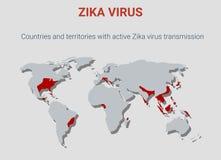 Vírus de Zika, vírus tropical perigoso Foto de Stock