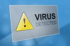 Vírus detectado imagem de stock