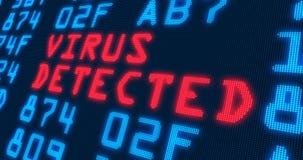 """Vírus do †das buzzwordes da segurança do Cyber """"detectado Fotografia de Stock"""