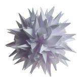 Vírus do kusudama de Origami fotografia de stock