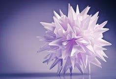 Vírus do kusudama de Origami imagens de stock royalty free