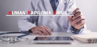 V?rus humano de Papiloma HPV imagem de stock