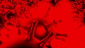 Vírus vermelhos no movimento ilustração do vetor