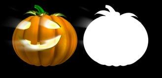 Víspera de Todos los Santos celebra pumpki de la magia del símbolo Fotos de archivo