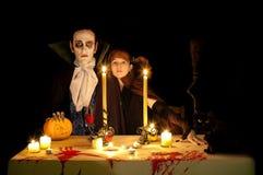 Víspera de Todos los Santos del vampiro Foto de archivo libre de regalías