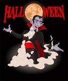 Víspera de Todos los Santos Dracula Imagen de archivo libre de regalías