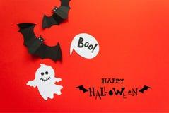 Víspera de Todos los Santos feliz Decoración de Halloween hecha del papel libre illustration