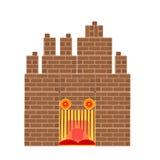 Víspera de Todos los Santos frecuentó vector del castillo Fotografía de archivo libre de regalías