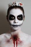 Víspera de Todos los Santos Imagen creativa Máscara facial Imagenes de archivo