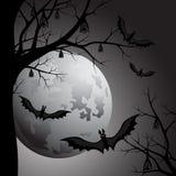 Víspera de Todos los Santos Luna en la noche Imagen de archivo libre de regalías