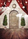 Víspera mágica de la Navidad Imágenes de archivo libres de regalías