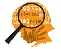 Vítimas escondidas da violência Fotos de Stock