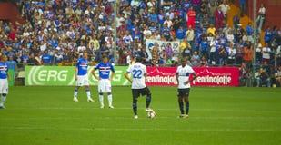 Vóór de gelijke Sampdoria - Inter Royalty-vrije Stock Foto's