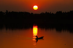 Vóór de zonsondergang Stock Foto