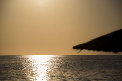 Vóór de zonsondergang in Thasos-Eiland Griekenland Royalty-vrije Stock Foto