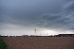 Vóór een onweer Stock Foto