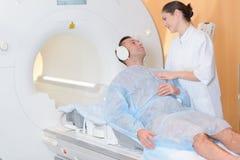 Vóór het MRI-onderzoek royalty-vrije stock foto's