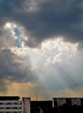 Vóór het onweer Stock Afbeelding