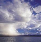 Vóór het onweer, supercell Stock Foto