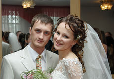 Vóór huwelijksceremonie Royalty-vrije Stock Foto's