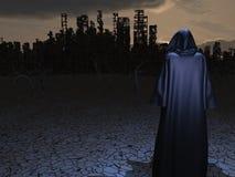 Vóór vernietigde stad royalty-vrije illustratie