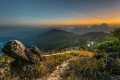 Vóór zonsondergang Stock Foto's