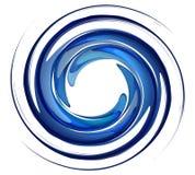 Vórtice aislado del agua Imagen de archivo libre de regalías
