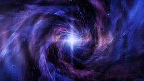Vórtice colorido del espacio con el fondo del movimiento de Starfield Loopable