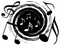 Vórtice de la música ilustración del vector