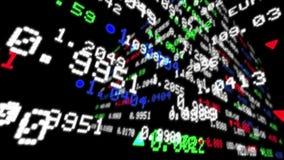 Vórtice de los datos de los teletipos del mercado de acción almacen de video