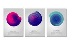 Vórtice del color Plantilla del diseño del cartel de Minimalistic con la cáscara espiral Forma abstracta con las líneas del rizo  Imágenes de archivo libres de regalías