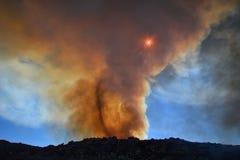 Vórtice del fuego Imagen de archivo libre de regalías