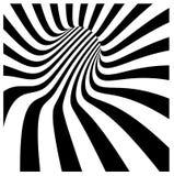 Vórtice del túnel en rayas blancos y negros concéntricas Fotos de archivo