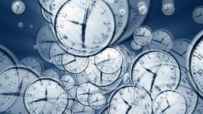 vórtice del tiempo de reloj 3D ilustración del vector