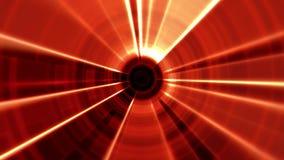 vórtice porta del 2.o túnel rojo de Tron con los rayos ligeros ilustración del vector