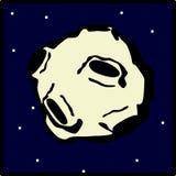Vôo asteróide no espaço Imagens de Stock
