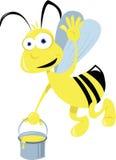 Vôo bonito da abelha ilustração royalty free