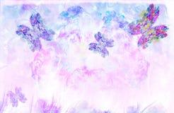 Vôo butterflies-3 ilustração do vetor