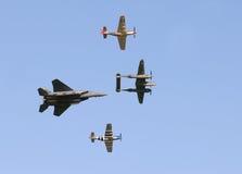 Vôo da herança no airshow Fotos de Stock Royalty Free