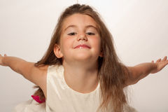 Vôo da menina Fotos de Stock Royalty Free