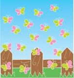 Vôo das borboletas Imagem de Stock Royalty Free