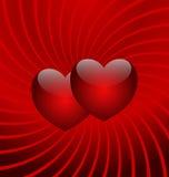 Vôo de dois corações fotografia de stock royalty free