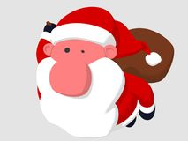 Vôo de Papai Noel Imagens de Stock Royalty Free