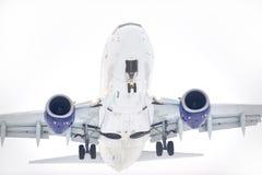 Vôo do avião Fotografia de Stock Royalty Free