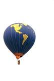 Vôo do balão de ar quente no ar Fotos de Stock Royalty Free