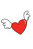 Vôo do coração Foto de Stock Royalty Free