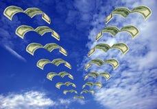 Vôo do dinheiro ausente Imagem de Stock Royalty Free