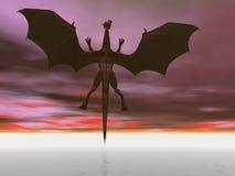 Vôo do dragão Foto de Stock