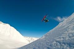 Vôo do esquiador no ar Imagem de Stock Royalty Free